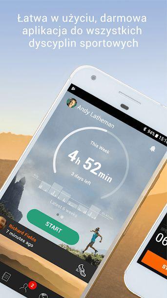 aplikacja do biegania sports tracker