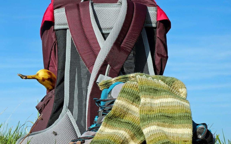 plecak turystyczny z siatką wentylacyjną