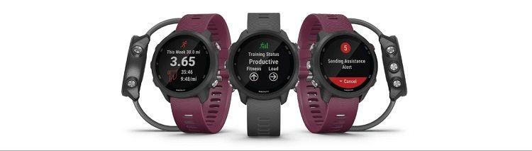 Garmin Forerunner 245- design of the running watch