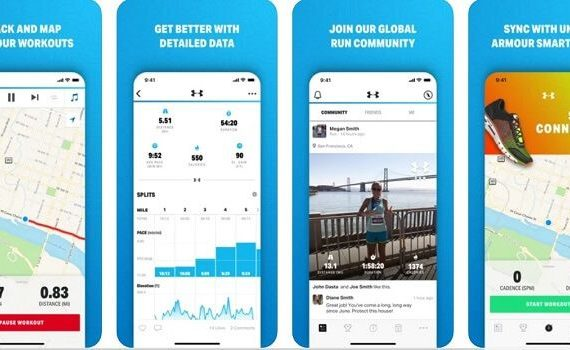 Features of the application - Mapmyrun