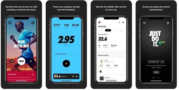 Running application - features of Nike Run Club