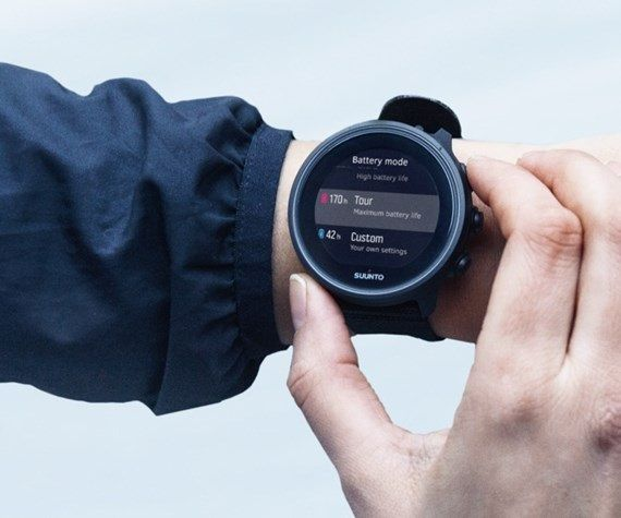 Efficient battery - Suunto 9 watch for runners