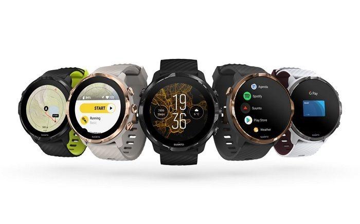 Modern design of Suunto 7 - running watch