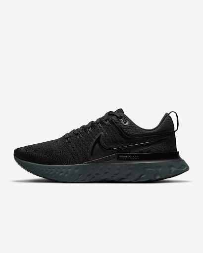 Czarne męskie buty do biegania Nike z wysoką pianką